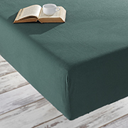 Простынь на резинке Soundsleep Stonewash Adriatic dark green зеленая
