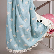 Плед Barine Star Throw Mint микроплюш