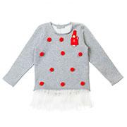 Кофта Красная девочка Kids Couture 16-14 серая