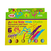 Набор цветных мелков для асфальта 6 шт VGR 25106
