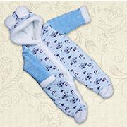 Комбинезон утепленный для малышей Ведмедик-2 Бетис велюр-махра