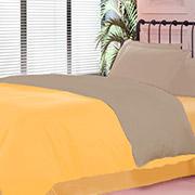 Постельное белье Queendom QDV3 лимонно-кремниевое
