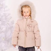 Куртка зимняя для девочки Модный карапуз Ваниль 03-00544