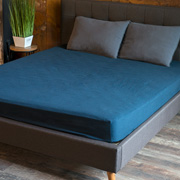 Простынь на резинке SoundSleep Stonewash Adriatic dark blue синяя