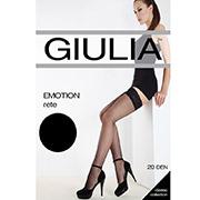 Чулки черные в сеточку Giulia Emotion Rete Nero