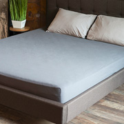 Простынь на резинке Soundsleep Stonewash Adriatic dark gray темно-серая