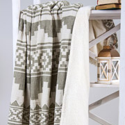 Плед микроплюш Barine Rug throw khaki