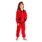 Спортивный костюм Велюр Kids Couture красный