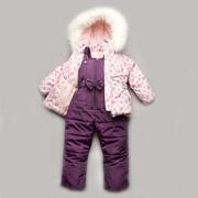 Зимний костюм-комбинезон Модный Карапуз Bubble pink