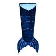 Плед из велсофта Хвост русалки bq-style синий с бирюзой