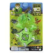 Часы c 2-мя зелеными фигурками Ultimate Alien Ben 10 0804-4