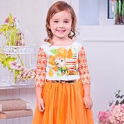 Платье Zironka Фиксики 113-1 оранжевое