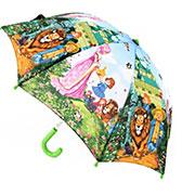Детский зонтик-трость Волшебник Изумрудного города Zest с салатовой ручкой