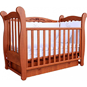 Детская кроватка Соня ЛД-15 полка, маятник 15.02 ольха