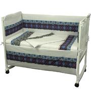 Спальный комплект для детской кроватки Руно Славяночка синий