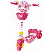 Скутер-самокат Hello Kitty с тормозами YaYa
