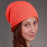 Демисезонная шапка Бабасик Сюзанна оранжевая