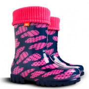 Резиновые сапожки Demar Twister Lux Print Сердце фиолетовое