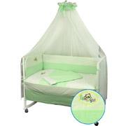 Комплект спальный для детской кроватки Я немовля Руно салатовый