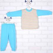 Пижама Татошка 01202 бирюзовая в цветную полоску