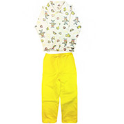 Пижама для девочки Желтые Зайцы ТМ Niso Baby 603ADy