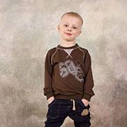 Реглан для мальчика Модный карапуз 03-00569 Коричневый