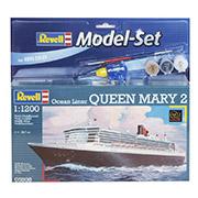 Конструктор Model-Set Пароход-люкс Queen Mary 2 1:1200 Revell 65808