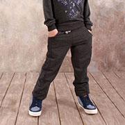 Брюки для мальчика спортивные Модный карапуз 03-00571 Темно-серые