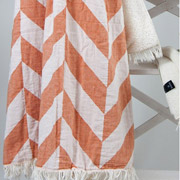 Плед микроплюш Barine Fishbone throw orange