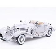 Автомодель Mercedes Benz 500 K Typ Specialroadster 1936 Macharadga 36055 white Maisto