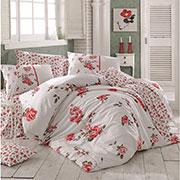 Комплект постельного белья Arya Jasmine ранфорс красный