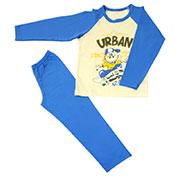 Пижама для мальчика МТФ 1333 П електрик+молочный
