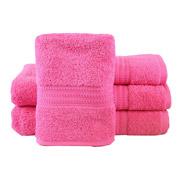 Полотенце махровое Hobby Rainbow Koyu-pembe розовое