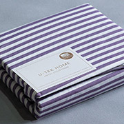 Простирадло натяжна Ютек бязь Hotel Collection Cotton Stripe Plum 30