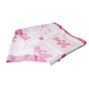 Детское двухстороннее одеяло Влади жаккардовое люкс розовое