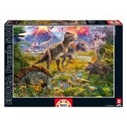 <b>Пазл Educa</b> Встреча динозавров <b>500</b> элементов <b>EDU</b>-<b>15969</b> ...