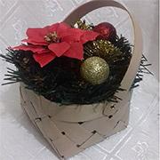 Декоративная корзинка из букового шпона Лоза и Керамика