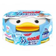 Салфетки влажные для младенцев в пластиковой коробке Goo.N