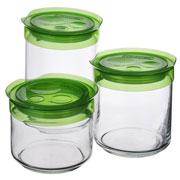 Набор банок Luminarc Storing Box 3 шт. зеленый