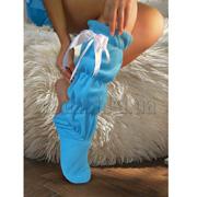 Тапочки - Сапожки высокие голубые