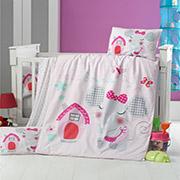 Детское постельное белье Victoria Bebek Pink House 28358