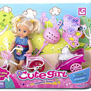 Кукла с велосипедом и аксессуарами Jambo К899-13