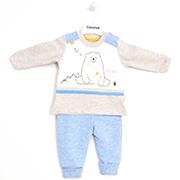 Демисезонный костюм для мальчика голубой с бежевым Caramell Love Bear