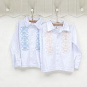 Рубашка для мальчика Фламинго 799-204 с вышивкой
