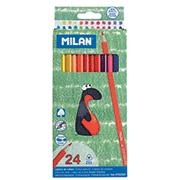 Карандаши цветные Milan 24 цветов
