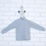 Гольф детский Татошка 02602 серый меланж интерлок