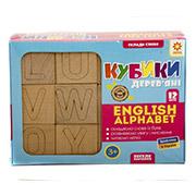Деревянные кубики Сложи слово Английская азбука Зірка 13336480