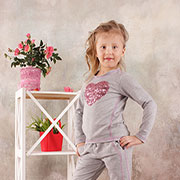 Реглан для девочки Модный карапуз 03-00566 Серый меланж
