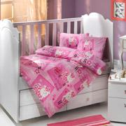 Постельное белье в кроватку Hobby Little Sheep розовый