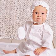 Крестильный набор для мальчика без крыжмы Модный карапуз 03-00584 Белый